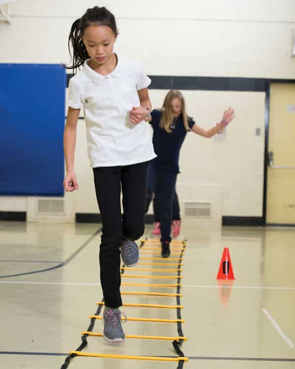 Agility ladder used in gym class