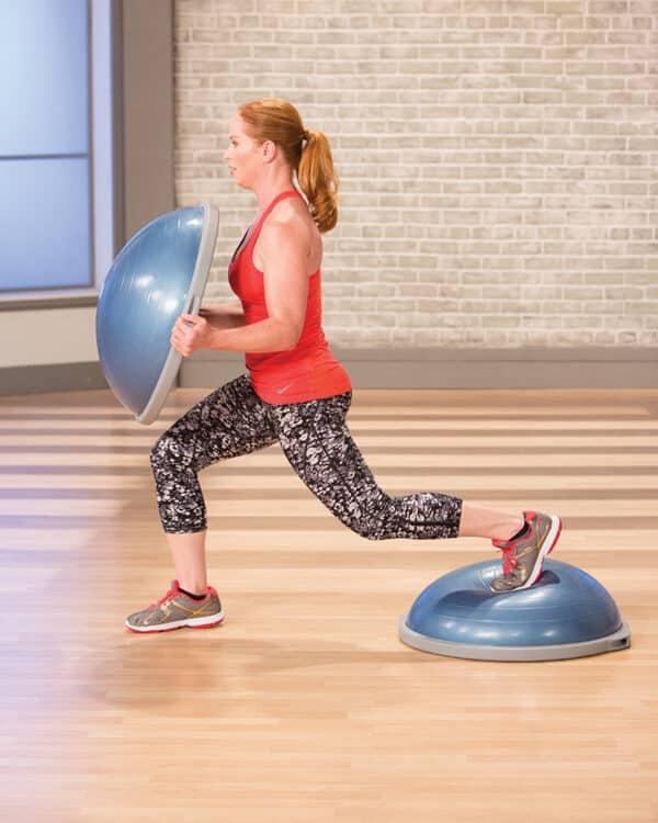 lunge using two BOSU Balance Trainer Pros