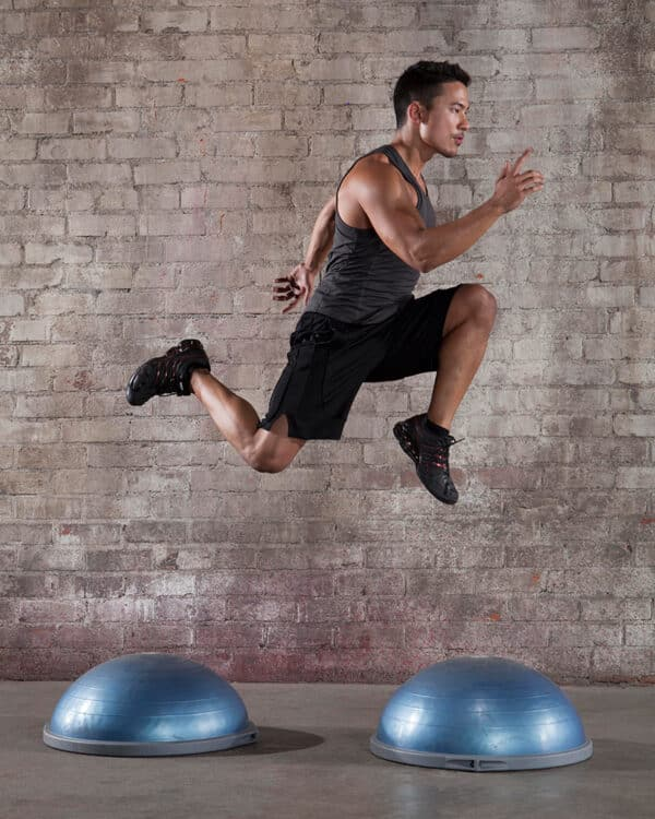 High jumps using BOSU Balance Trainer Pro