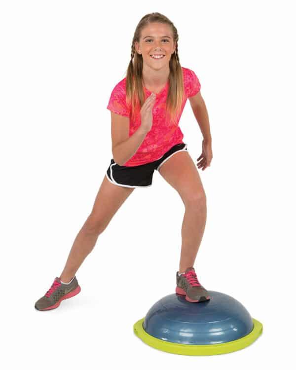 Kid side lunge on BOSU sport