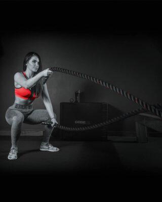 girl using COREFX Battle Rope
