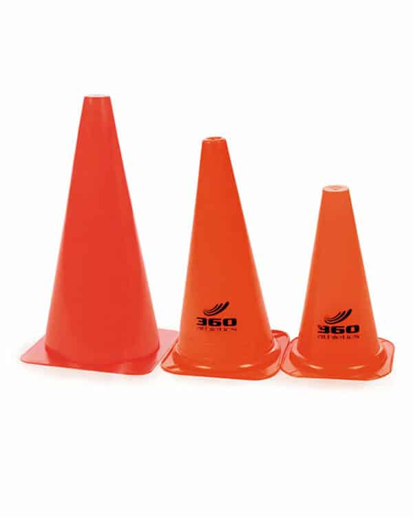 High visibility vinyl cones in three varying sizes