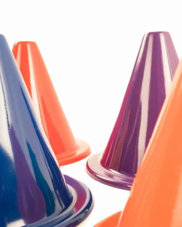 Rainbow Soft Cone close-up