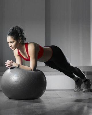 Anti Burst Ball Plank Exercise