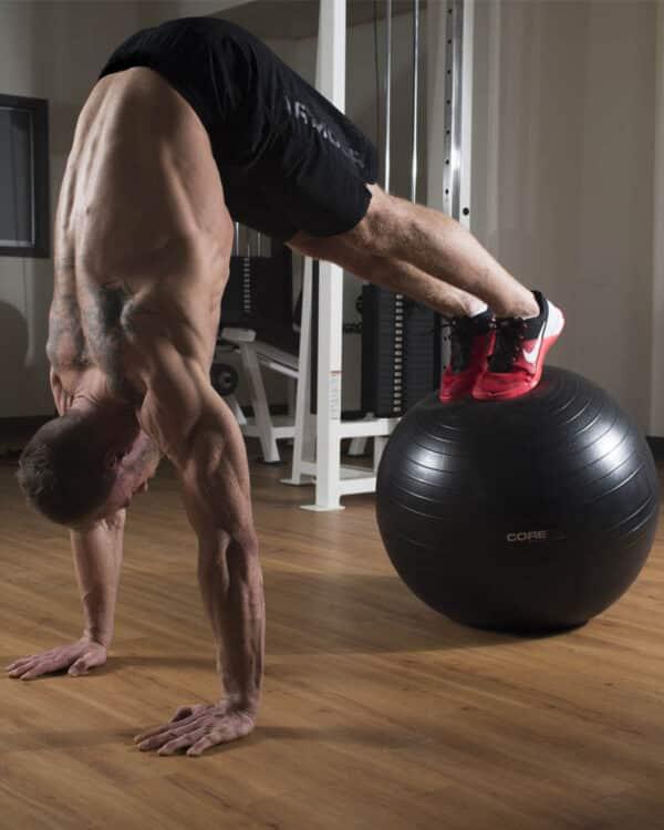 Athlete using Anti Burst Ball