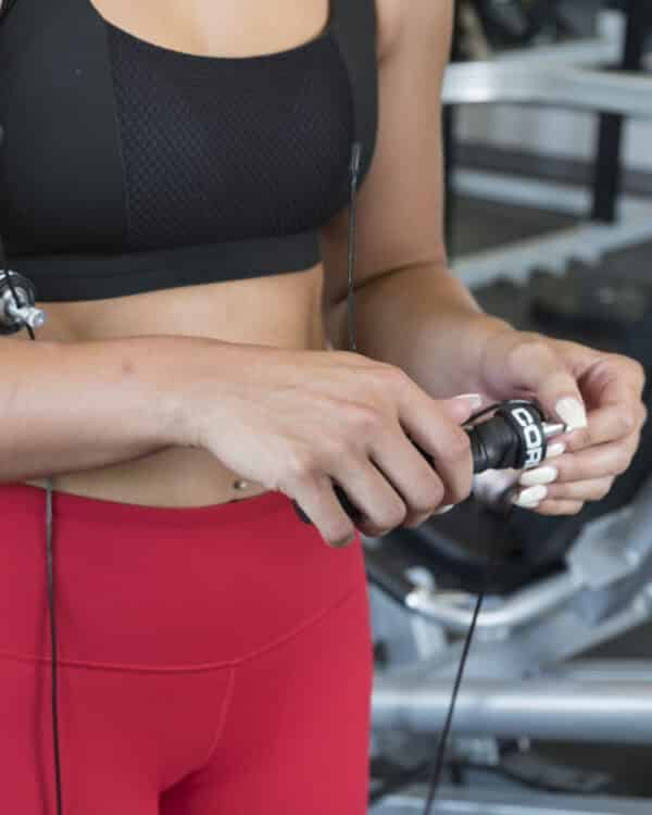 COREFX Soft-Grip Speed Rope in the gym