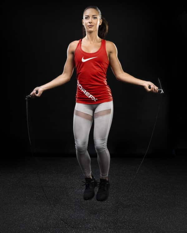 COREFX Soft-Grip Speed Rope in use