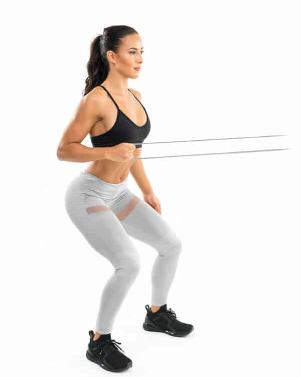 Single arm lat pull with the Strength band