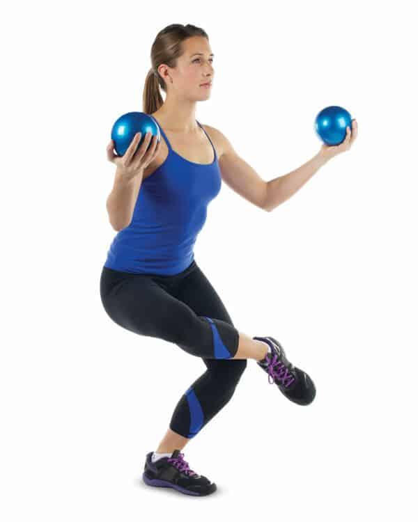 Weighted Yoga Balls Balance Exercise