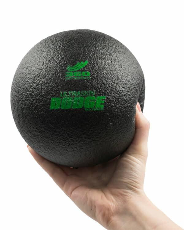 Hand Holding Black Ultraskin Dodgeball