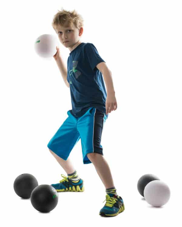 Boy Holding White Ultraskin Dodgeball