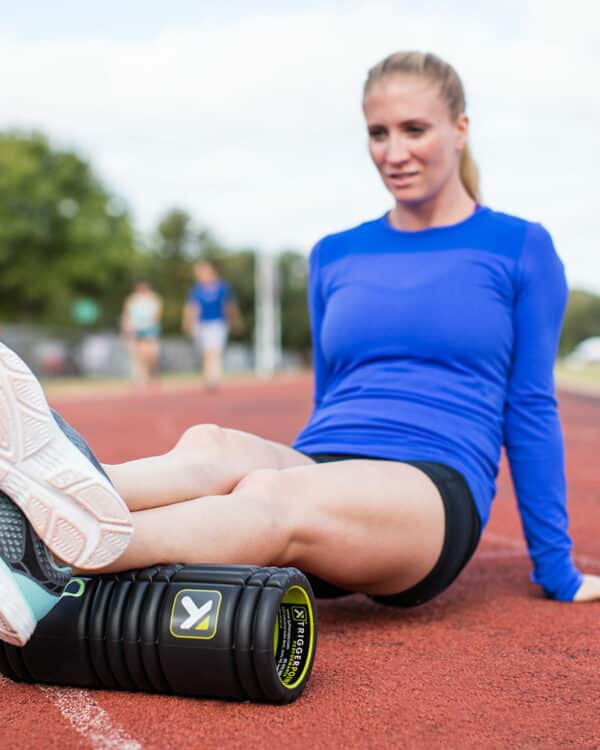 Woman rolling out calves