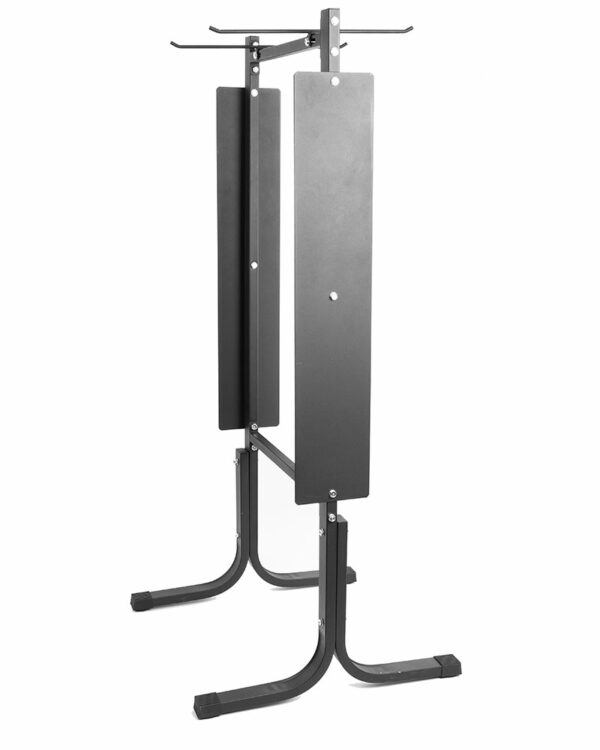 Side view of Hanging Yoga Mat Rack