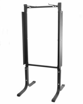 front view of hanging yoga mat rack