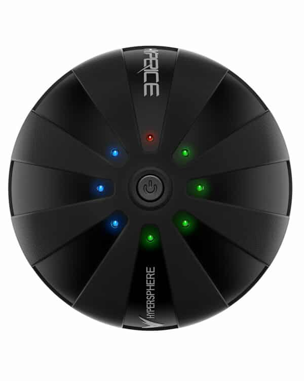 Black Hyperice Hypersphere product shot top view