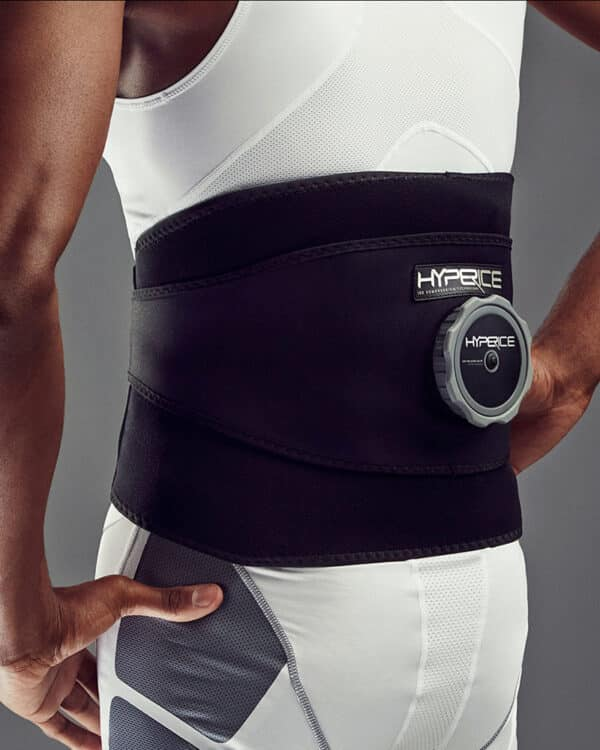 Hyperice Ice Compression Back Wrap soothing back pain