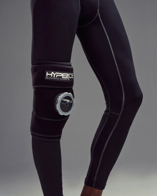 Hyperice Ice Compression Knee Wrap in use