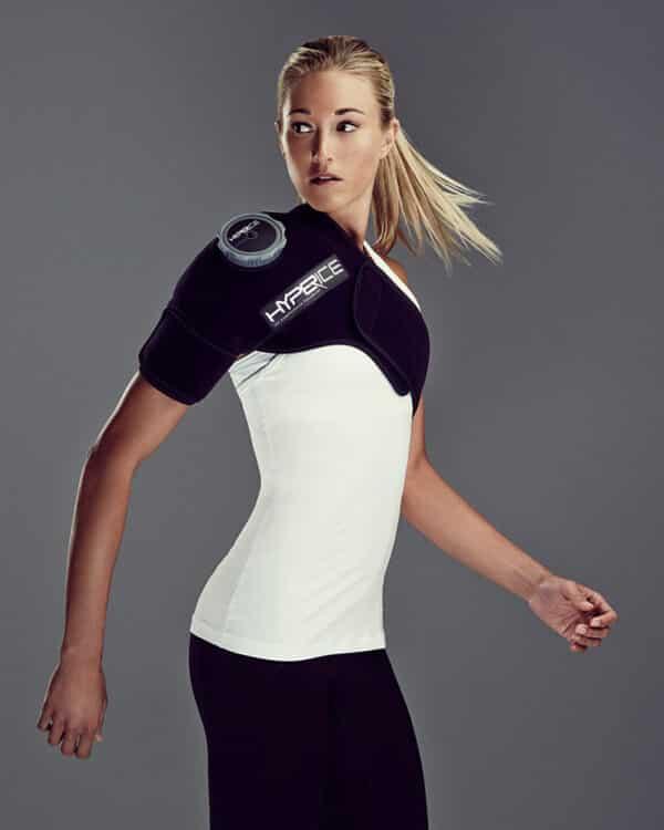 Athlete wearing Ice Compression Shoulder