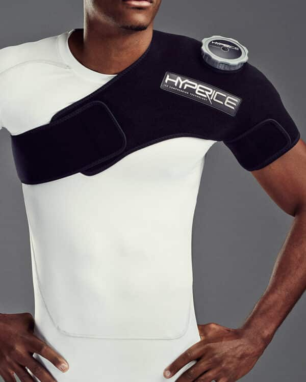 Close up of Hyperice Ice Compression Shoulder