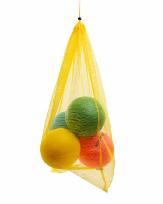 Net Equipment Storage Bag filled with balls