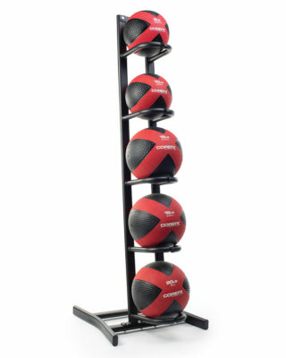 COREFX Single-Sided Medicine Ball Rack with med balls