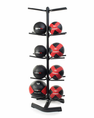 COREFX Double-Sided Medicine Ball Rack in use
