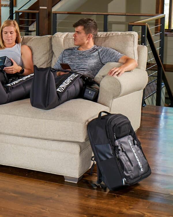 NormaTec in use with Backpack