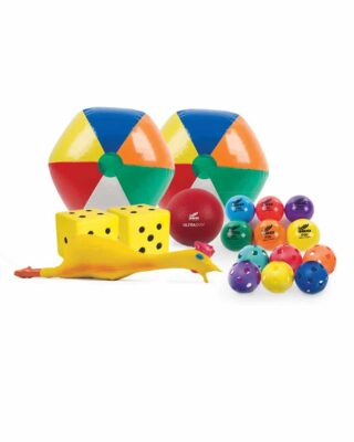 Group of products that can be used for parachute play