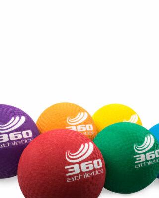 Rubber Playground Balls Close Up