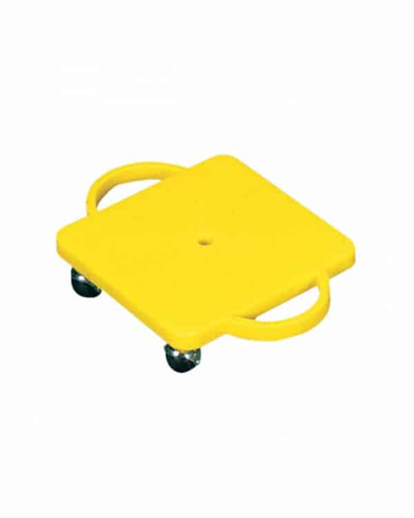 Yellow Scooter Board with Handles