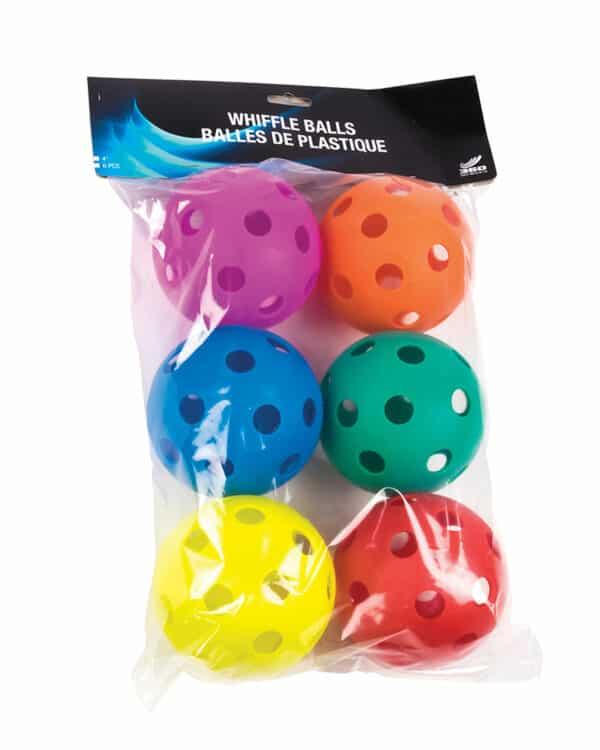 Rainbow colour whiffle balls