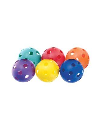 Rainbow set of 6 Perforated Practice Balls