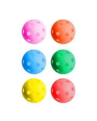 rainbow colour Practice ball set of 6