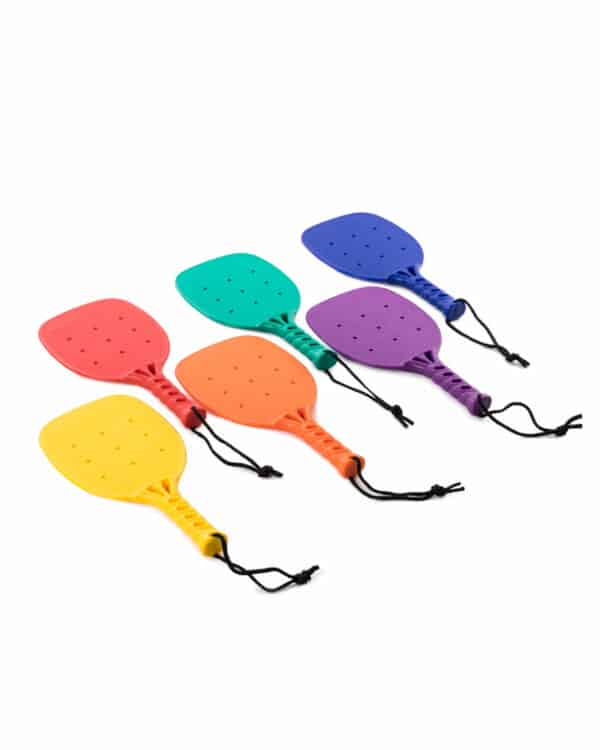 Rainbow Pickleball Set of 6 layed out