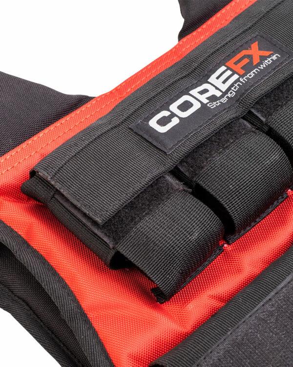 weighted vest pocket details