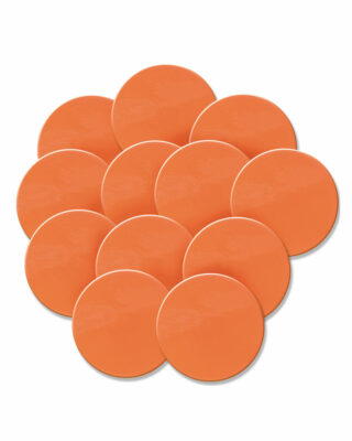 Orange Polyspot set of 12