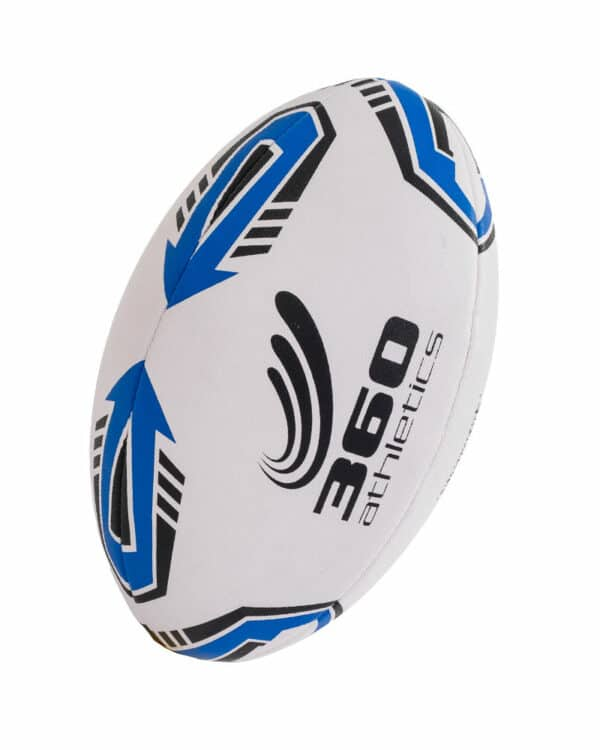 top view of match rugby ball