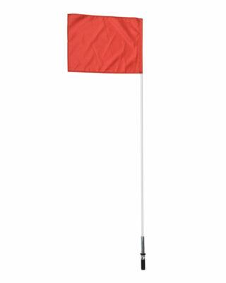 Indoor corner flag set with spring base