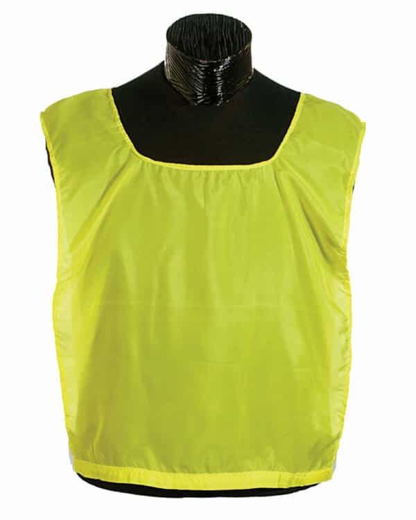 Reversible Pinnie showing yellow side out