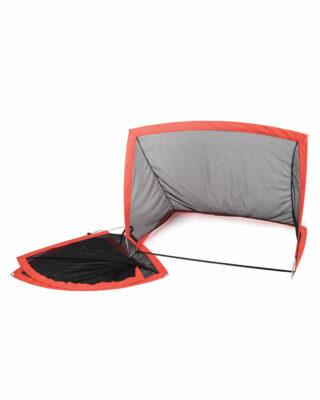 pair of square pop up soccer nets