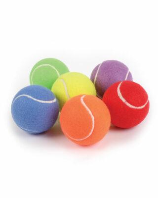 Rainbow practice tennis balls