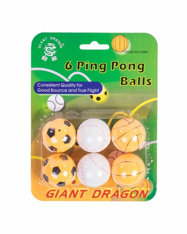 Sports Themed Ping Pong Balls, 1 Star