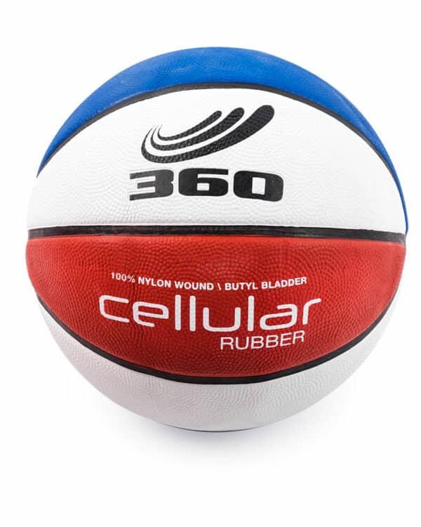 Cellular Composite Basketball Blue, Red, White
