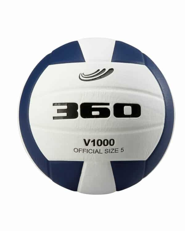 Blue and white composite volleyball