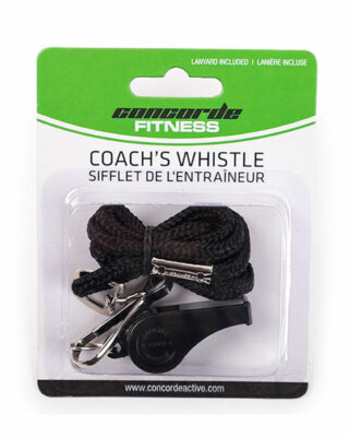 Coach's whistle and lanyard combo
