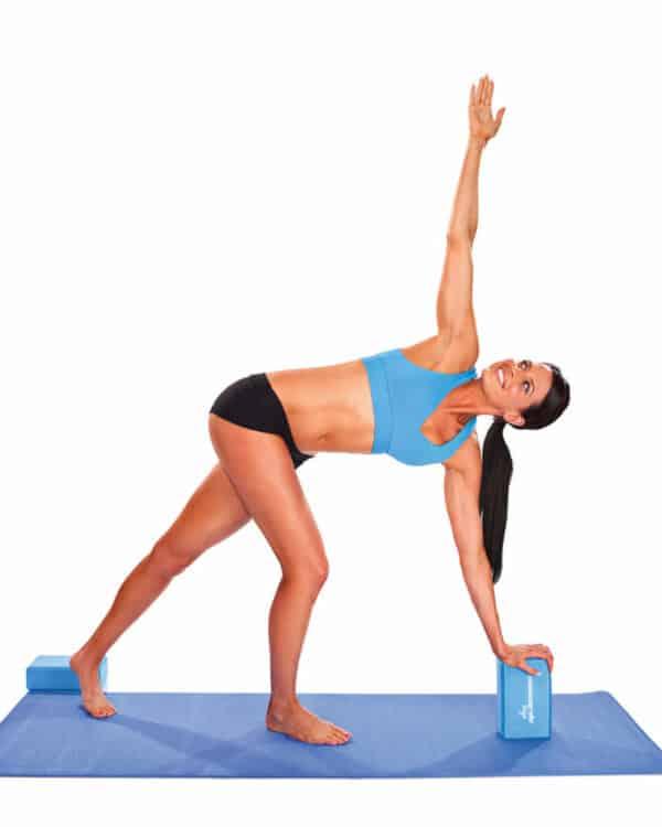Woman using Concorde Yoga Block