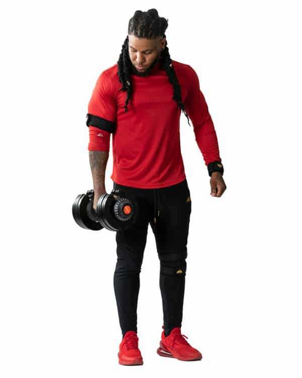 Man with COREFX Adjustable Dumbbell Set