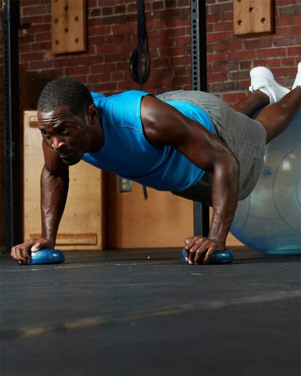 BOSU® Balance Pods and ballast ball workout