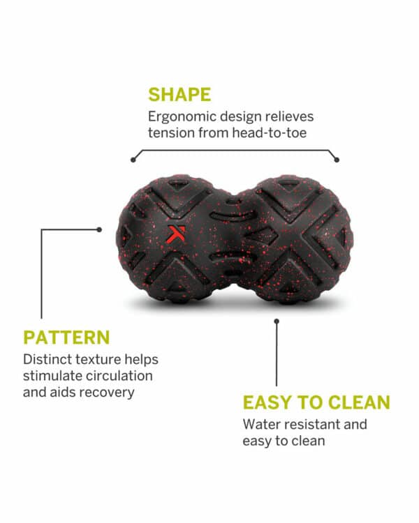 diagram of the areas of the universal massage ball