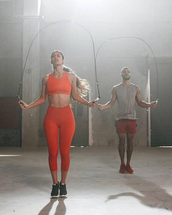 Male and female athlete using the HYROPE